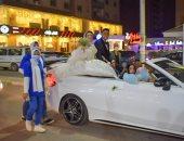 """عروس بالزقازيق ستوقف موكب الزفاف لتسجيل في حملة """"معا_نطمئن"""""""
