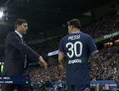 ميسي يرفض مصافحة مدرب باريس سان جيرمان بعد استبداله أمام ليون.. فيديو