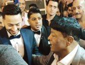 حمادة هلال وعمر كمال وعدوية والشيخ في حفل زفاف نجل عبد الباسط