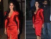 استلهمى إطلالتك بفساتين السهرة الحمراء من مشاهير بوليوود.. كاترينا كيف متصدرة