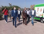 """محافظ كفر الشيخ يتفقد حملة """"معًا نطمئن"""" ويشيد بالأطقم الطبية.. فيديو وصور"""