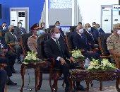 """الرئيس السيسى يشاهد فيلما تسجيليا بعنوان: """"عبور جديد"""" عن أنفاق سيناء"""