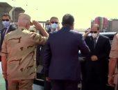 شاهد.. لحظة وصول الرئيس السيسى لافتتاح عدد من مشروعات تنمية شبه جزيرة سيناء