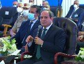 الرئيس السيسى عن الاهتمام بشبكات الطرق: نضع أسس حقيقية للتنمية فى مصر