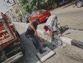حى مصر الجديدة يشن حملات متنوعة لرفع الإشغالات وتطهير بلاعات صرف الأمطار