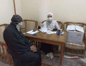 الفريق المتنقل للتلقيح ضد كورونا يزور كنيسة مار جرجس بمدينة ناصر فى بنى سويف