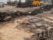 كسر بالخط المياه الرئيسى بمدينة المطرية بالدقهلية بعد ساعات من إصلاحه
