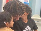 """محمد النني في صورة جديدة مع أبناءه مالك ومليكة: """"كل شئ بالنسبة لى"""""""
