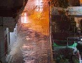 الأمطار تغرق شوارع العريش وظهور برك مياه في الشوارع.. صور