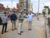محافظ الجيزة يتفقد أعمال تطوير شارع البحر الأعظم بجنوب الجيزة