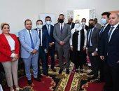 وفد تنسيقية شباب الأحزاب يرافق وزيرة التضامن في زيارة مشروعات تنموية بالفيوم