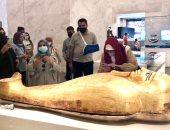 وفود رفيعة المستوى من الأردن والجابون والمجر يزور المتحف القومى للحضارة