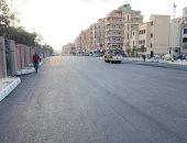 الانتهاء من أعمال الرصف والأسفلت بمحور فؤاد عزيز غالى بالإسماعيلية.. فيديو