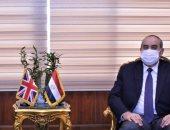 وزير الطيران يبحث مع السفير البريطانى سبل دعم الحركة الجوية بين البلدين