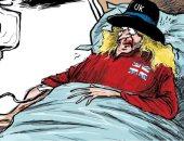 كاريكاتير اليوم.. بريطانيا المريضة في حاجة إلى جرعة وقود