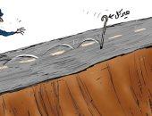 """كاريكاتير اليوم.. ميركل """"العكاز"""" الذى تحتاجه أوروبا للحركة"""