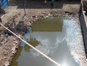 شركة المياه تستجيب لشكوى من تراكم الصرف الصحي بشوارع إنشاص البصل في الشرقية