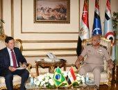وزير الدفاع يلتقى نائب رئيس جمهورية البرازيل لمناقشة مجالات التعاون العسكرى