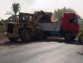 رفع 200 طن تراكمات وأتربة بإدفو وإزالة 66 حالة إشغال خلال حملة بأسوان