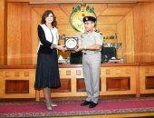 وزيرة الهجرة تلتقى دارسى درجة الزمالة بكليتى الدفاع الوطنى والحرب العليا