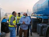 رئيس مياه القناة يشهد اصطفاف سيارات ومعدات قطاع السويس استعدادًا للشتاء