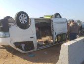 مصرع طالبين وإصابة 5 آخرين جميعهم من أسرة واحدة في حادث انقلاب سيارة بسوهاج