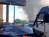 زحام شديد بكورنيش الإسكندرية إثر الحريق الهائل فى مطعم جليم