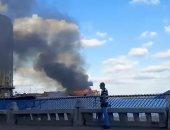 البحث الجنائى يعاين حريق مطعم جليم بالإسكندرية ورفع عينات لمعرفة أسبابه