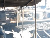 آثار دمار مطعم شهير بالإسكندرية بسبب حريق هائل التهم جميع محتوياته.. لايف