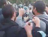اشتباكات بين الشرطة ومتظاهرى المناخ فى ميلانو ..فيديو