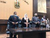 وزيرة التضامن ومحافظ شمال سيناء يدشنان المبادرة الرئاسية بر أمان.. صور