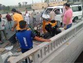 إصابة 5 أشخاص فى حادث انقلاب سيارة على الطريق الصحراوى الغربى بالمنيا