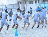 المصرى يتدرب على شواطئ الإسكندرية استعدادا للموسم الجديد.. صور