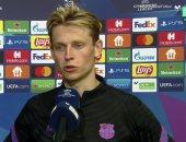 دي يونج: برشلونة بدأ دوري الأبطال بشكل سيئ وكومان ليس مذنبا