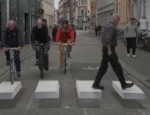"""الدنمارك تنشئ معابر مشاة """"ثلاثية الأبعاد"""" لتوفير مرور آمن.. فيديو وصور"""