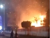 إخماد حريق فى نخلة داخل مستشفى صدر المحلة قبل امتداده لمبنى الإدارة الصحية