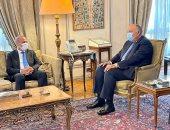 سامح شكرى يؤكد ضرورة خروج القوات الأجنبية والمرتزقة من ليبيا