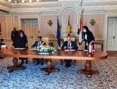 توقيع اتفاقية تآخ بين مدينتى سيناء الرومانية وشرم الشيخ المصرية.. صور