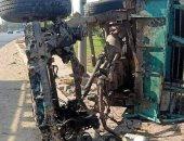 إصابة 11 من عمال اليومية فى حادث انقلاب سيارة بالشرقية
