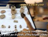ضبط 6 قطع أثرية عثر عليها مواطن أسفل منزله في سوهاج.. فيديو