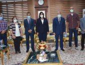 محافظ المنيا يستقبل نائب وزير السياحة لمتابعة تطوير مسار العائلة المقدسة