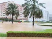 """التلفزيون العمانى: تراجع الإعصار """"شاهين"""" إلى عاصفة مدارية بعد دخوله اليابسة"""