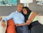 باراك أوباما يحتفل بعيد زواجه الـ29 بصورة مع ميشيل ورسالة رومانسية