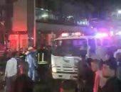 تفاصيل حريق هائل داخل مول شهير بالبحيرة تسبب في احتراق واجهة المول والطابق الثالث