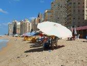 أجواء خريفية معتدلة بالإسكندرية اليوم مع خلو الشواطئ من المصطافين.. لايف