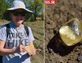 سيدة تعثر على حجر يزن 4.38 قيراط من الألماس الأصفر بحديقة أثناء التنزه