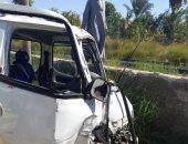 إصابة شخص بسبب حادث انقلاب سيارة ملاكى بطريق الواحات الصحراوى