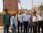محافظة القاهرة تنفذ نموذجا لمسلة المطرية الفرعونية بمدخل شارع الكابلات