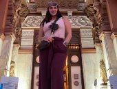 """ديانا حداد فى زيارة لقصر البارون: """"هنا القاهرة.. باختصار مصر فى القلب"""""""