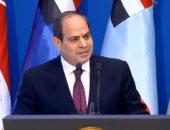 """الرئيس السيسى: """"لن نترك أرضا يمكن تنميتها فى سيناء إلا وهنميها"""""""